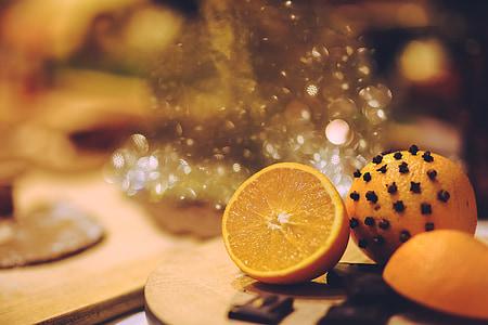 pomarańczowy, owoce, owoce, ząbek, ząbki, Boże Narodzenie, Boże Narodzenie