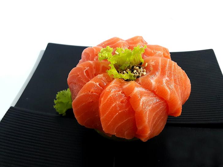 Sushi, losos, Sashimi, jedlo, plody mora, jedlo, sviežosť