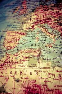globus, Àfrica, Europa, continents, mapa, global, país