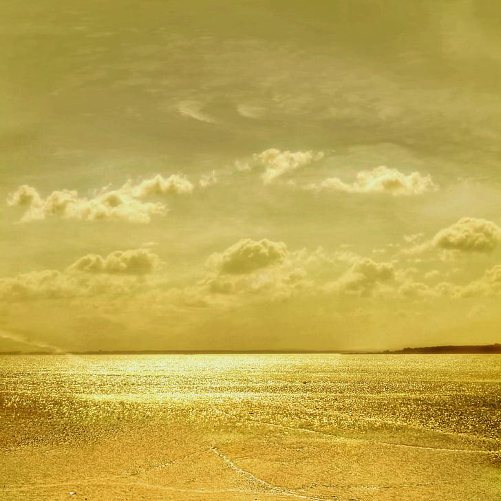 fons, Zelts, pludmale, jūra, okeāns, skaistas pludmales, ūdens