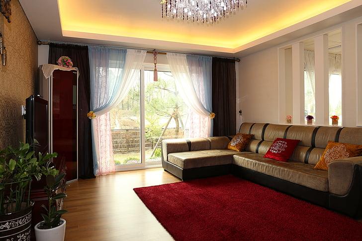 mājas pārdošanai, dzīvojamā istaba, interjers