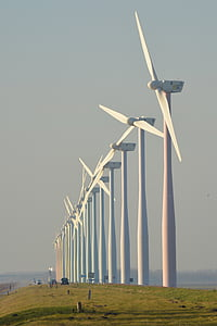 nature, windmills, netherlands, wind energy, view, wicks, wind Turbine