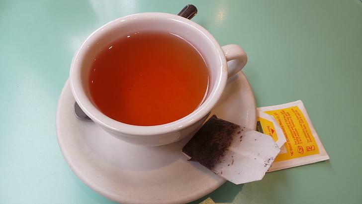 tea, cup of, breakfast, english tea, tea bag