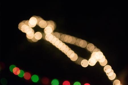 lys, effekt, natt, ledet