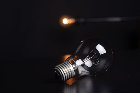 bulb, lights, macro, illuminated, black background, light bulb, electricity
