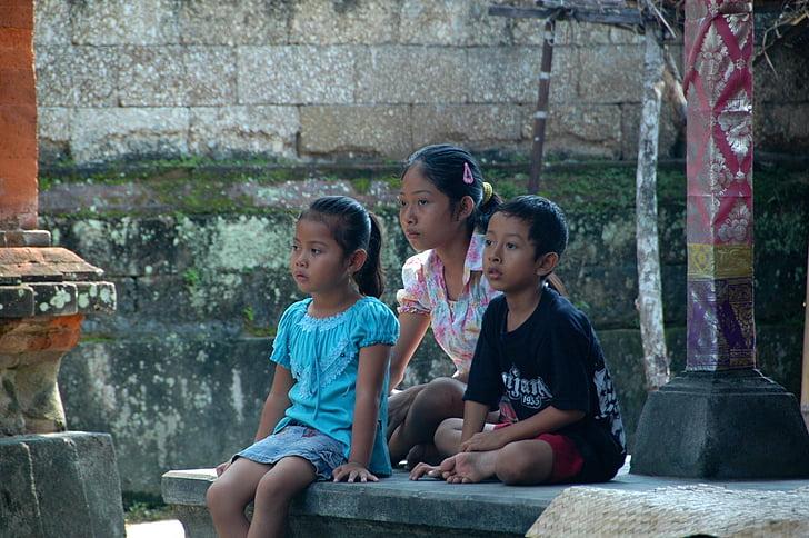 niños, Malaysi, niño, infancia, al aire libre, disfrutar de, juntos
