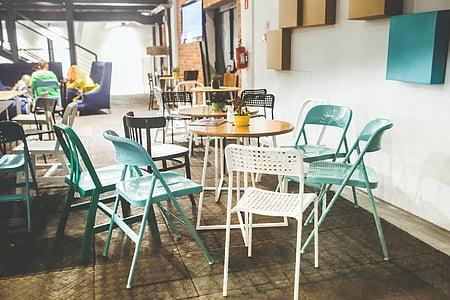 restaurant, interior, design, vintage, industial, retro, old