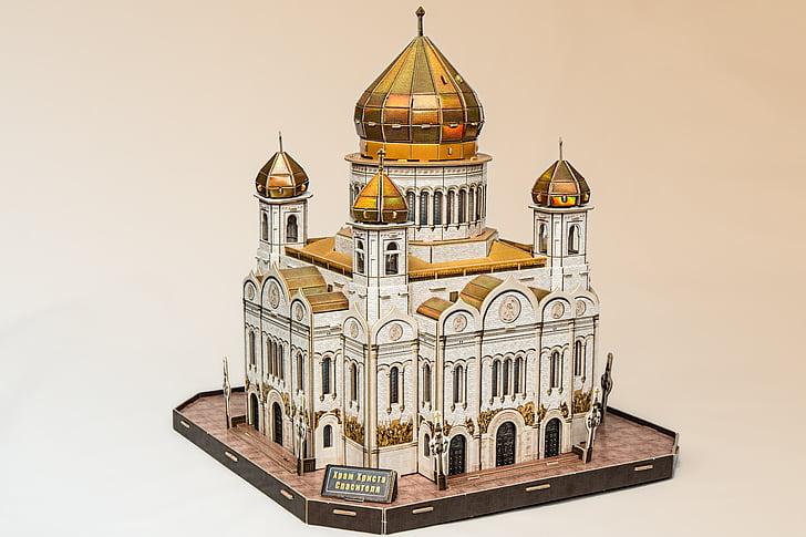 Kathedraal, kerk, Russisch-orthodoxe kerk, Moskou, Kathedraal van Christus de Verlosser, Bisdom, bouwwerk