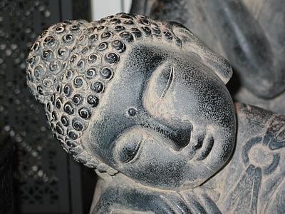 Buddha, Buddhismus, meditace, Kamenná postava, náboženství, duchovní, Zen