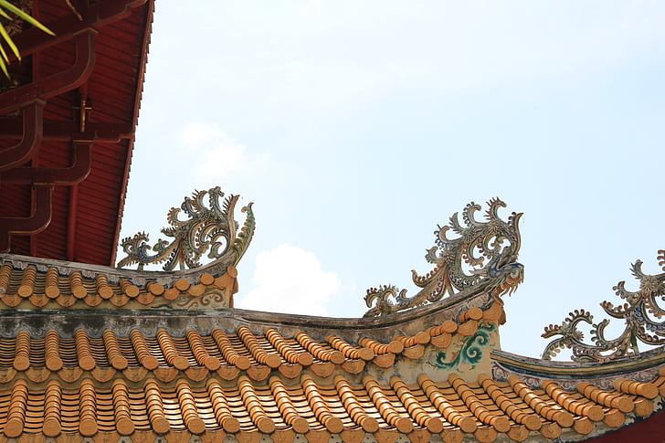 thailand, ayutthaya, bang pa in, residence, roof, chinese, ancient