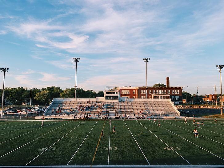 photo, american, football, field, school, university, stadium
