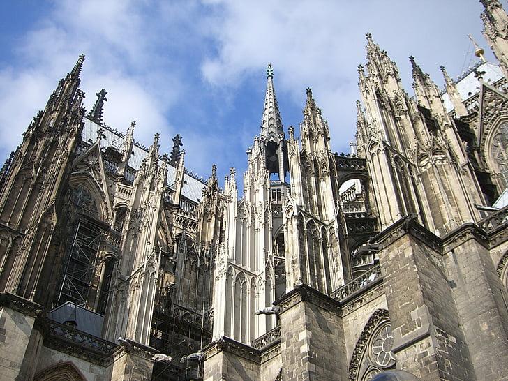 Cologne, Dom, fasad, Kastil Cologne, Landmark, tempat-tempat menarik, Monumen