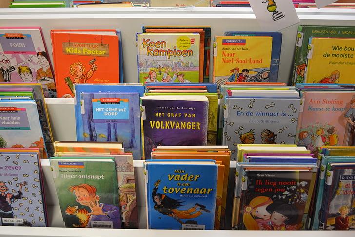 books, library, read, bookshelf
