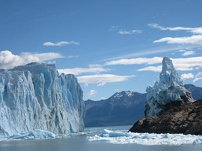Glaciar, Perito moreno, Argentina, Calafate, landskap, Patagonia, naturen