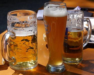 mirdgardhaus, biertuin, bier, Hefeweizen, witbier, Light bier, Bierpul