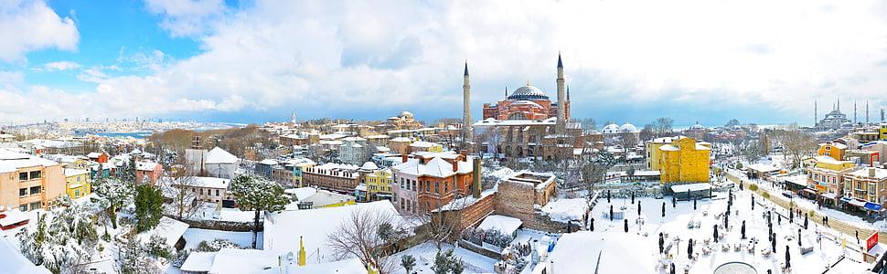 istanbul, sultanahmet, snow