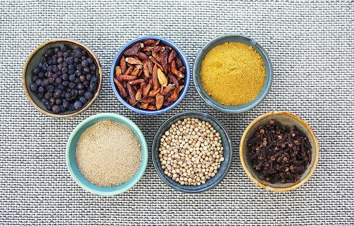 garšvielas, garšviela, aromātu, garša, pikanta, pavārs, virtuves