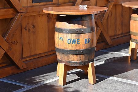 fût de bière, Tableau, baril, bière, boisson, célébrer, tonneaux en bois