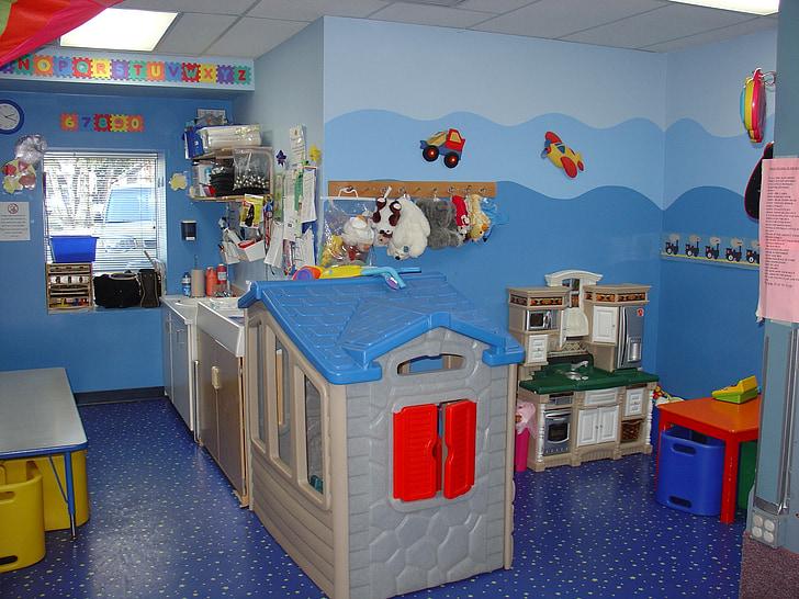Dětská pokoj, hrát kuchyňské, školka, preschooler pokoj, Herna, hrát, pokoj
