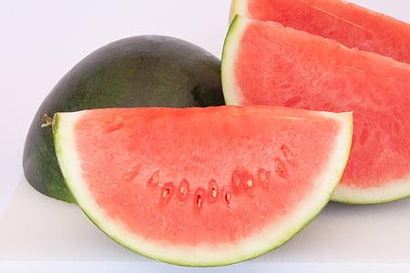 Vandmelon, melon, saftige, frugt, mad, lækker, spise