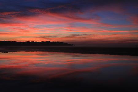 matahari terbit, Georgia sunrise, Georgia, air, alam, pagi, Sungai