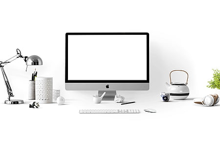 apple, apple devices, clean, computer, containers, contemporary, cup