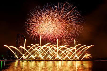 fireworks, the international fireworks competition, fireworks in da nang, danang international fireworks, fireworks event, fireworks festival, night