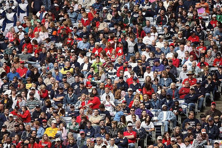 multitud, aficionats als esports, espectadors, Estadi, persones, esdeveniment esportiu, audiència