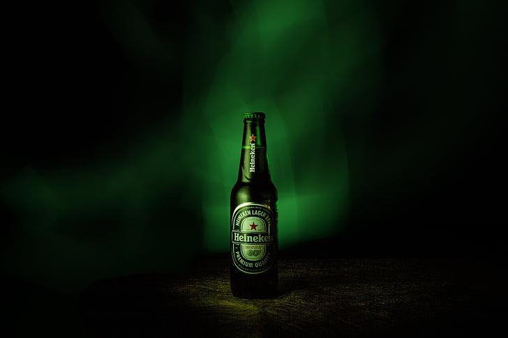Reklaam fotograafia, Heineken, õlu, alkoholi, jook, pudel, õlu - alkoholi