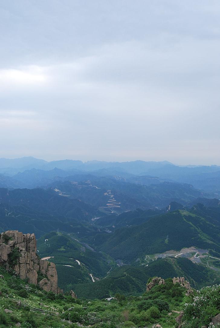 mountain, ya, distance, sky, blue sky, green, mountain road