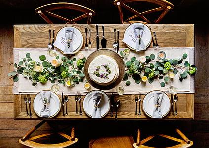 estil de vida, sopar, menjar, aliments, Restaurant, formal, esdeveniment
