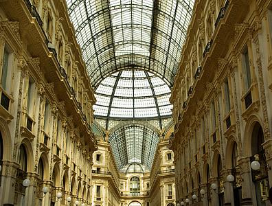 Itàlia, Milà, galeria, cúpula, sostre, interior, història