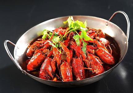ザリガニ, 油煮込み, 食品, グルメ, 湖南省, コリアンダー, 魚介類