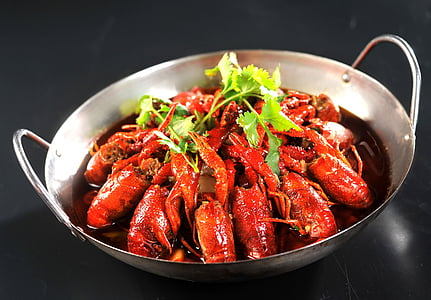 raky, ropy guláš, jídlo, gurmán, Hunan, koriandr, Mořské plody
