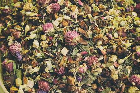 te, fulles, mixt, beguda, Sa, a base de plantes, sec