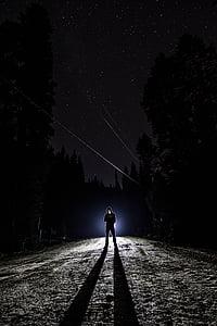 dark, man, night, person, shadow, silhouette, sky
