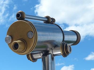 กล้องโทรทรรศน์, โดยดู, ดู, กล้องส่องทางไกล, เลนส์, ระยะทาง, วิสัยทัศน์