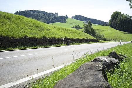 carretera, ciclamen, passar la carretera, muntanyes, Ruta, corbes, asfalt