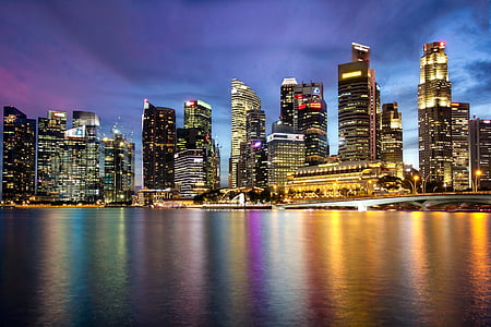 Singapore, Marina bay, Merlion, Bay, Asia, Marina, staden