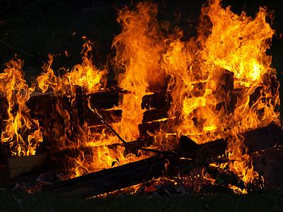 foc, foc de fusta, flama, cremar, calor, espurna de foc, foc de flama