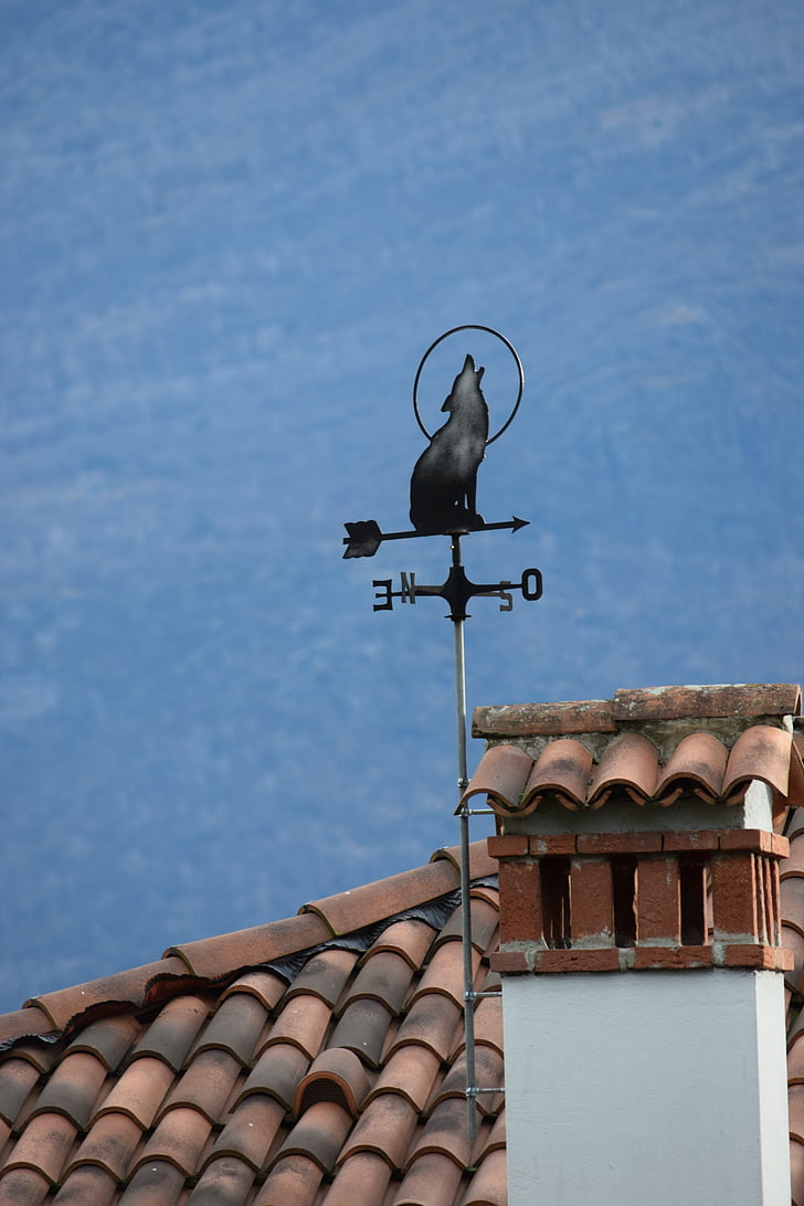 Wetterfahne, Wind-Marken, Wolf, Gravedona, Como