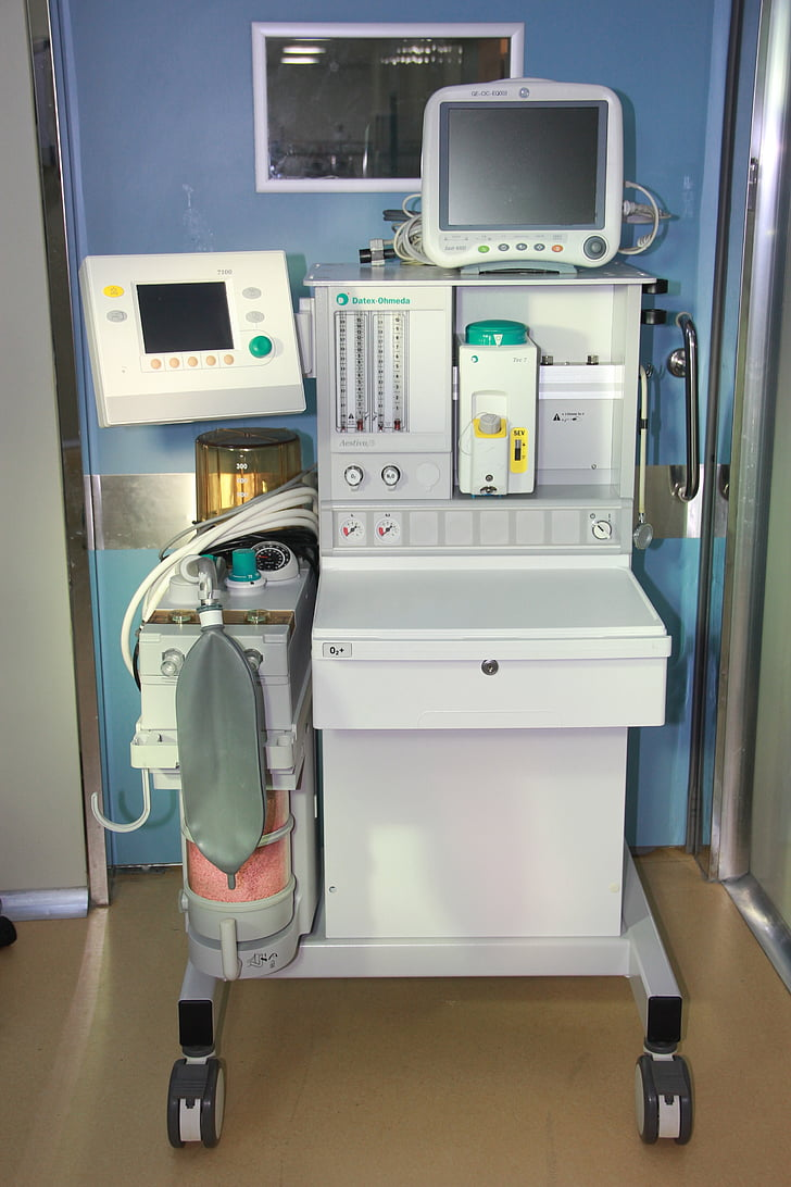 helse, anestesi maskin, instrumentet, sykehus, utstyr, behandling