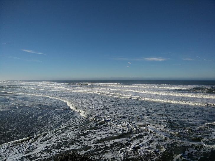 Тихоокеанський, океан, води, Каліфорнія, Тихий океан, узбережжя, скелястий берег