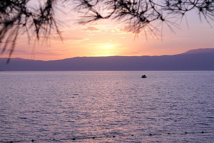 Krk, apus de soare, Croaţia, bunăstarea, mare, apa, natura