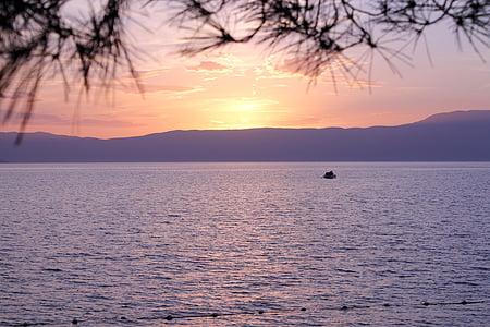 Krk, Sunset, Kroatien, velvære, havet, vand, natur