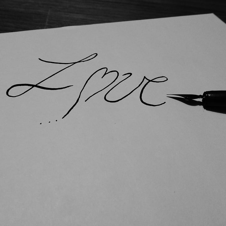 love, letters, heart, love letter, love you, ink, declaration of love