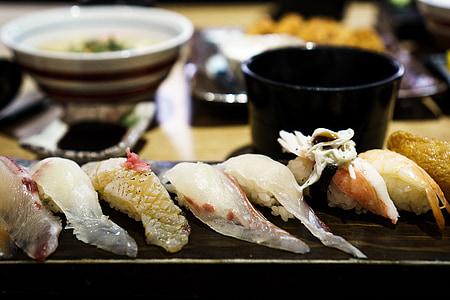 sushi, peix, Sashimi de, aliments, marisc, japonès, salmó