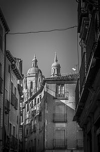 architecture, black-and-white, buildings, black And White, building Exterior, urban Scene, built Structure