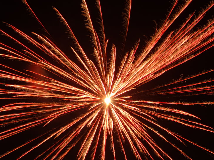 views, fireworks, pretty, exploding, firework display, abstract, red