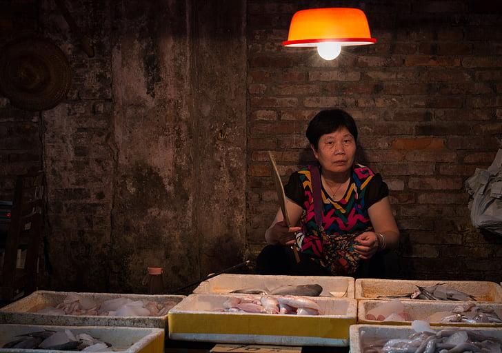 Centre, mercats, Xina, l'ancià, vida